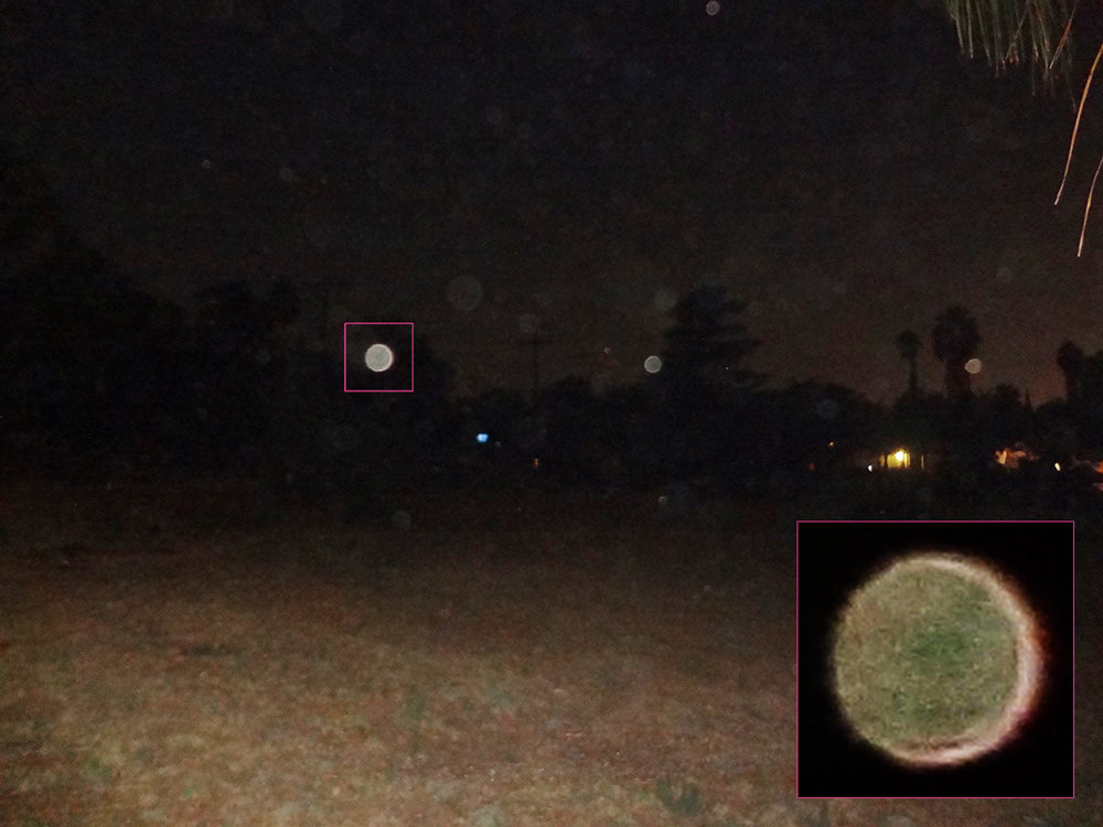 ORB CLOSE UP – FULL MOON   9/5/2017 — Redlands, California