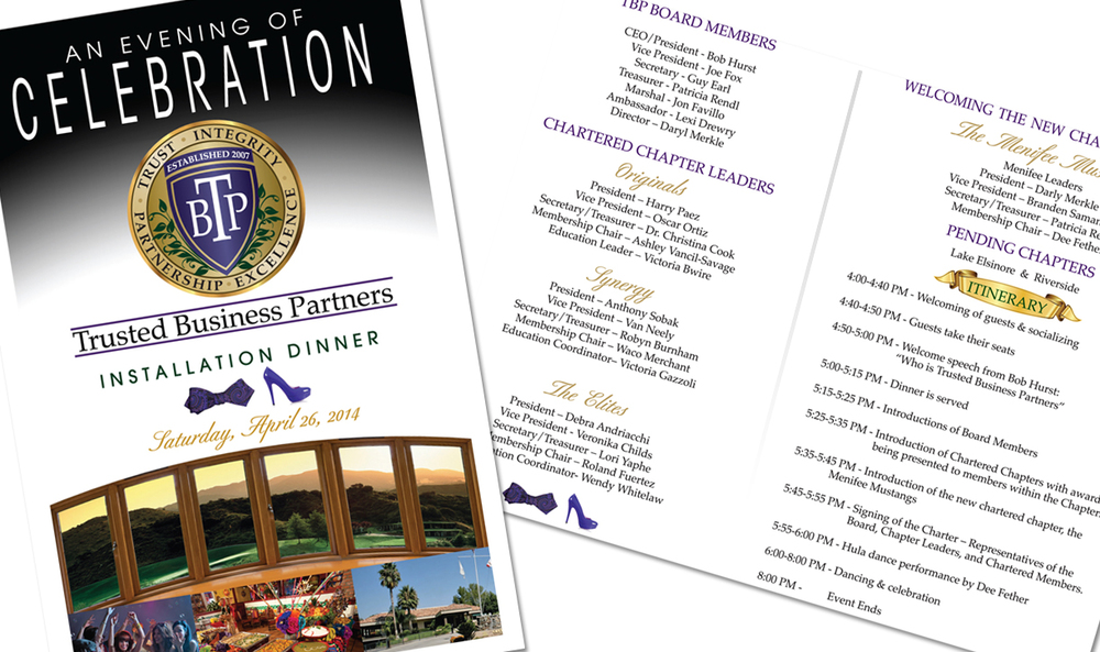Installation Dinner Program