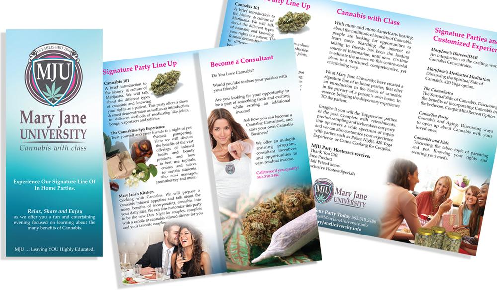 Tri-fold brochure.