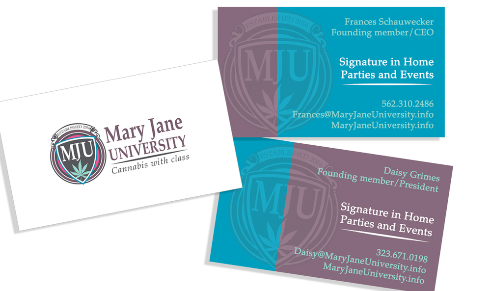 Business cards. Color reflection to differentiate members.