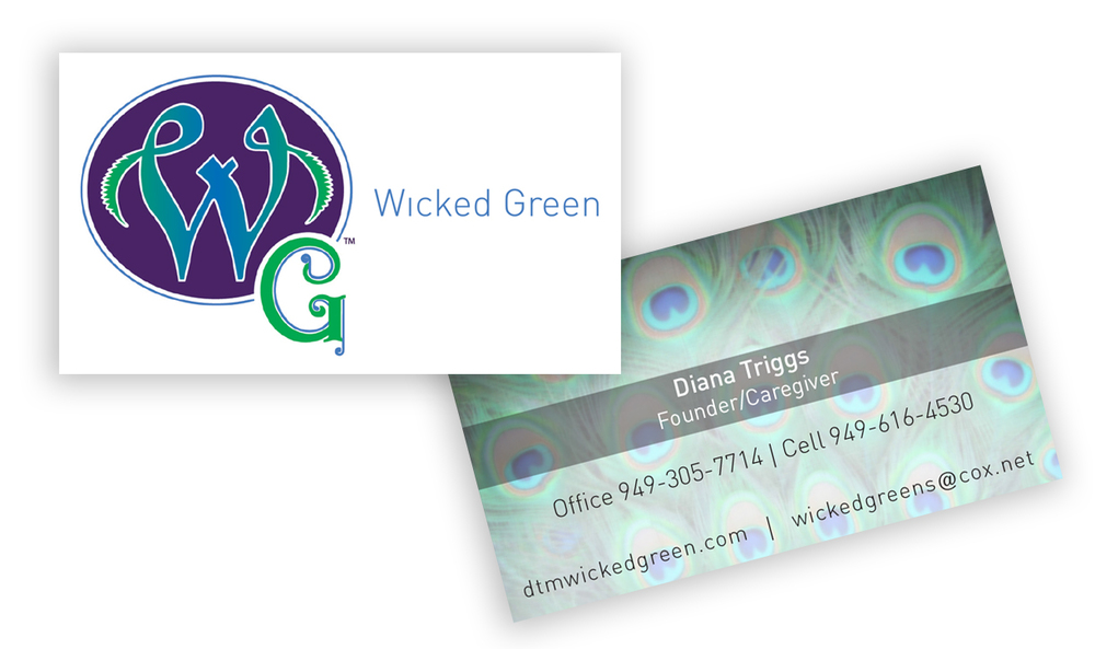 Wicked Green Owners Business Card