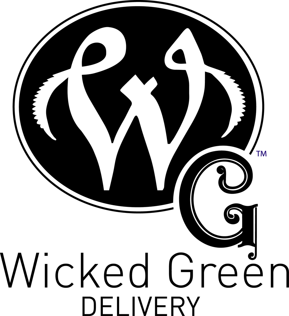 It's important that all logos work in one color. Here is the Wicked Green logo in black and white.