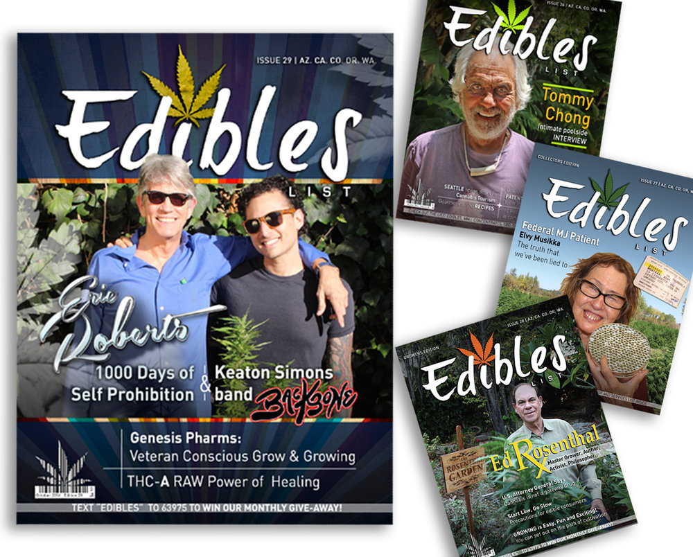 Edibles List Magazine Cover Designs
