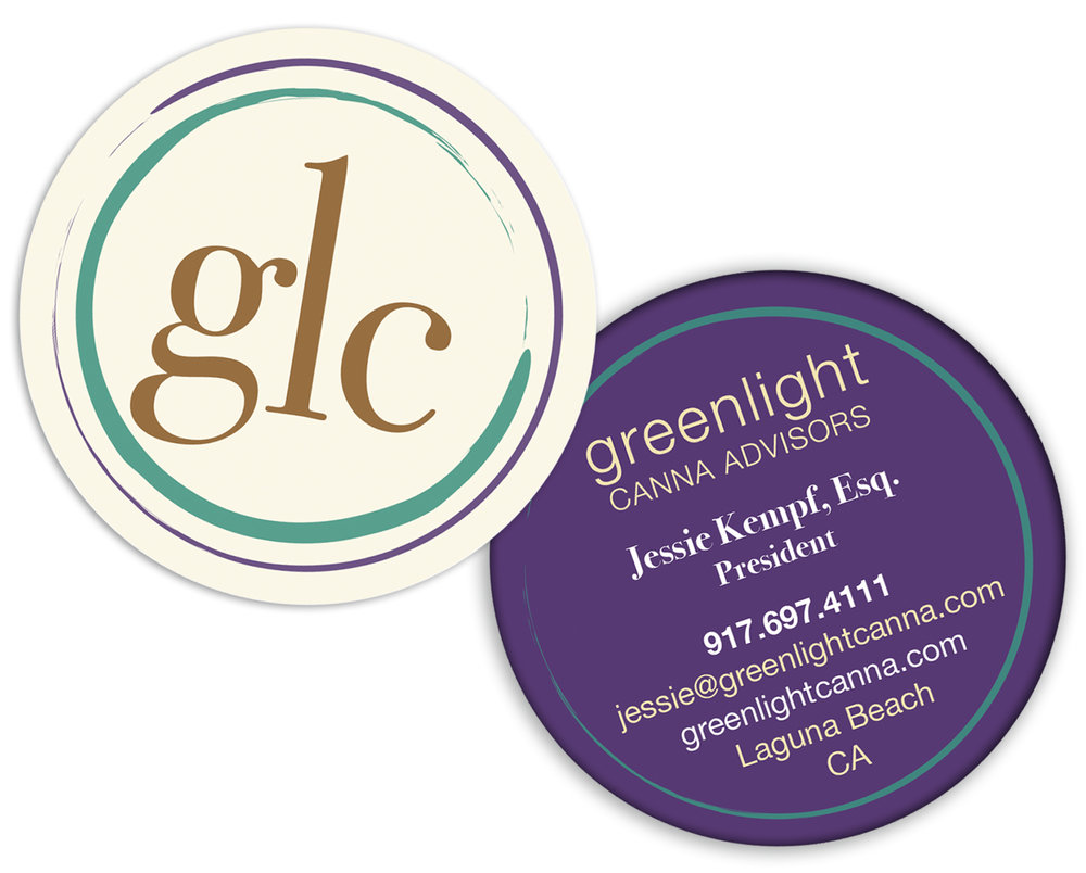 Two sided, die cut business card
