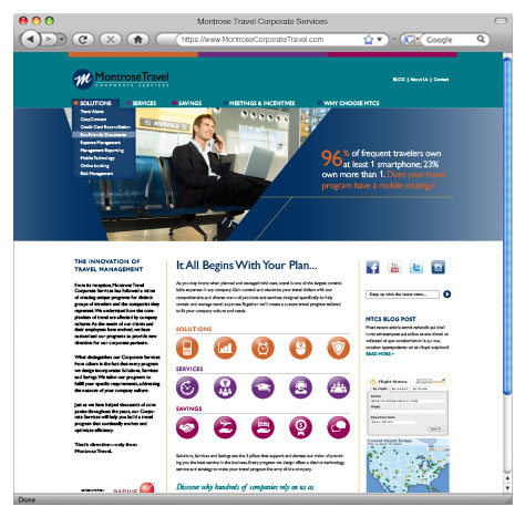 Montrose Travel Corporate Services – Website Design