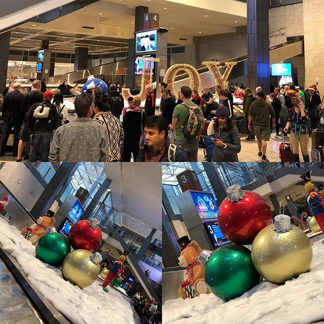 Oh Joy! A big holiday greeting at the baggage claim in Austin - Texas style big! #merrychristmas #austintexas