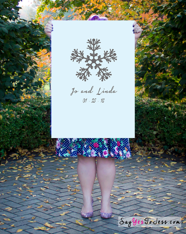 Snowflake Wedding Guestbook Poster, Winter Wedding Guestbook — Say ...
