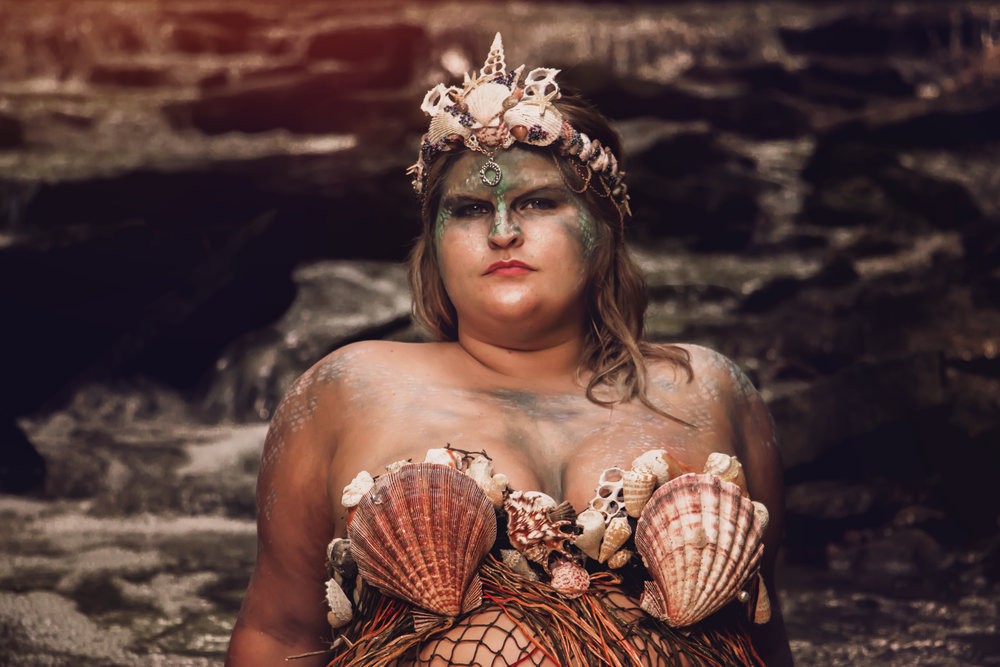 Say Yes To Jess| Cincinnati| Cincinnati Ohio| Mermaid Cincinnati| Cincinnati Mermaid| Plus Size Mermaid | fantasy Session Cincinnati | Concept Photography | Cincinnati Photographer