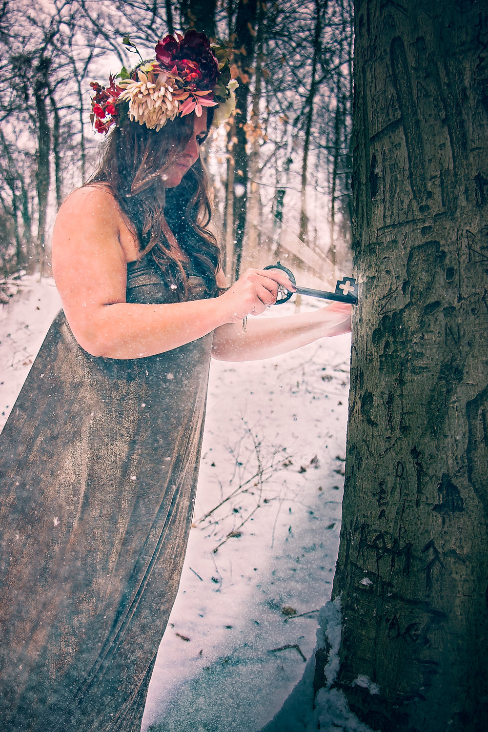 Say Yes To Jess Dream Session. Snow Portraits, Snowing, Cincinnati ohio, Cincinnati Photographer, Cincinnati Ohio Fine Art Photographer Say Yes TO Jess