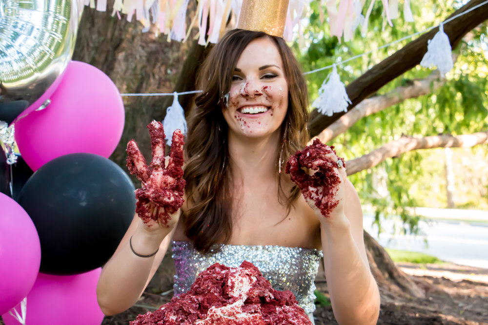 30th Birthday Cake smash by Jess Summers of Say Yes To Jess Cincinnati Ohio