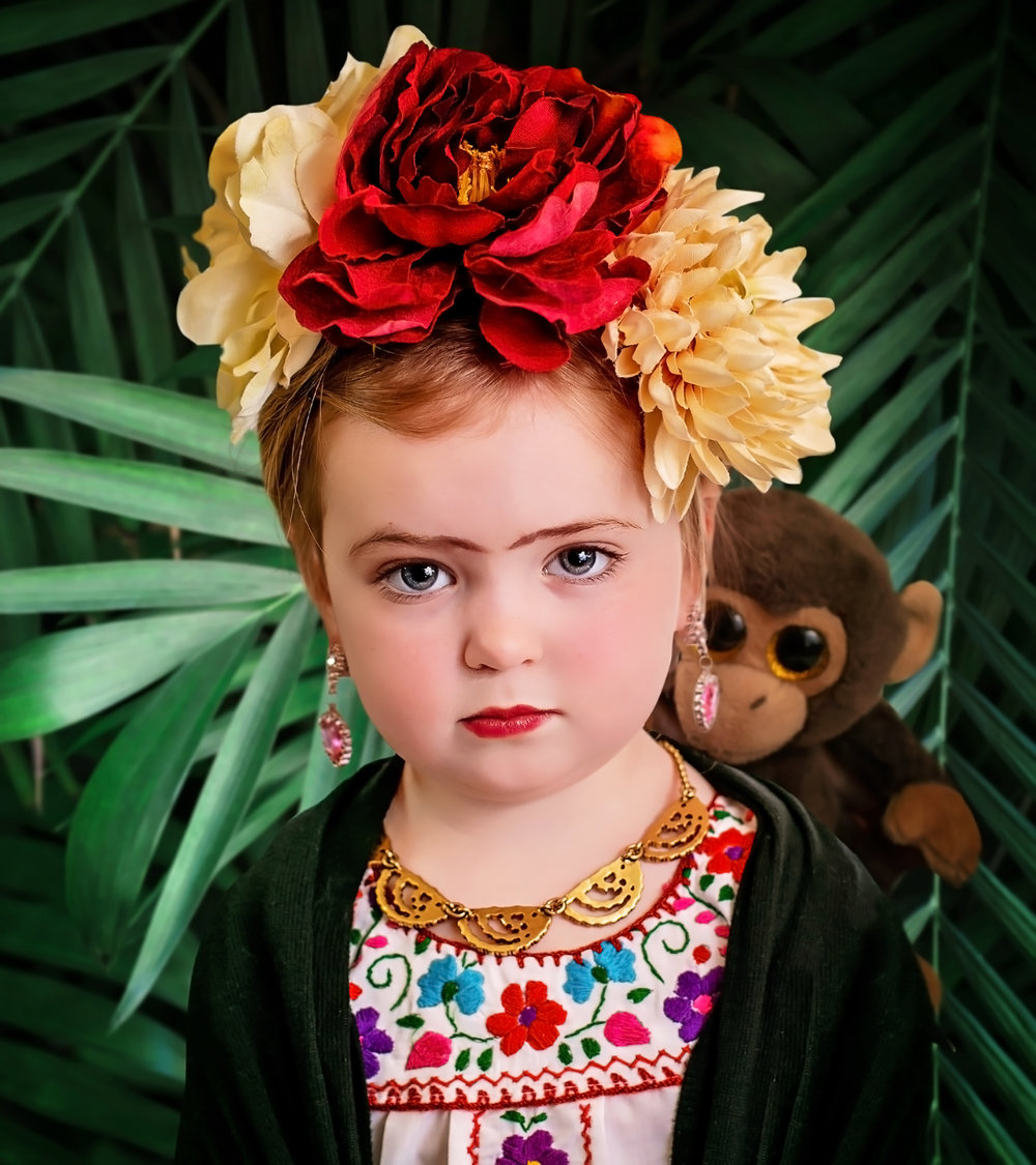 Say yes to Jess photographs Little girl dresses as Frida Kahlo for International Womens Day