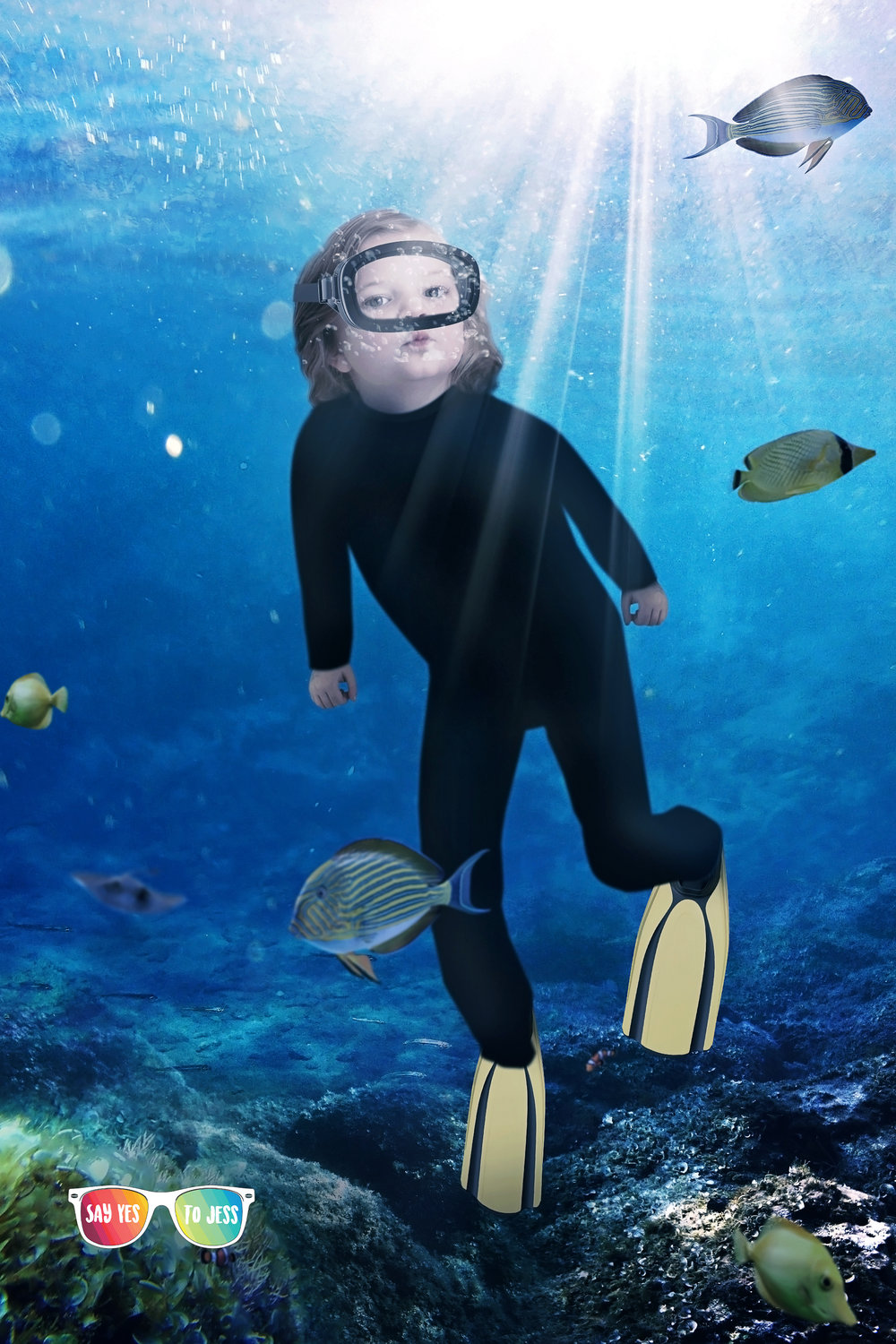 Say yes to Jess photographs Little girl dresses as Sylvia Earle for International Womens Day