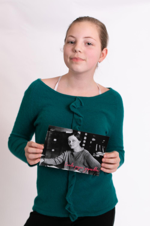 Cecilia Payne-Gaposchkin self portrait
