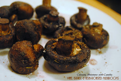 Wine, Butter & Herb-Roasted Mushrooms