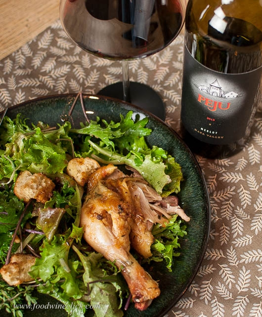 Zuni Chicken & PEJU Merlot