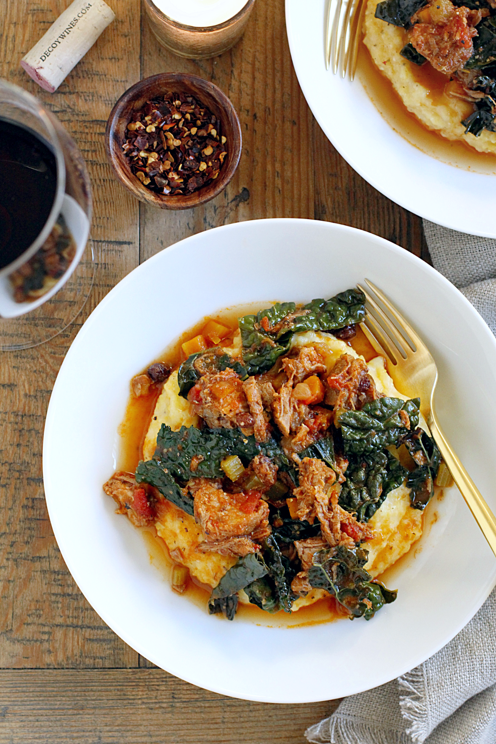 Pork Ragù with Creamy Polenta