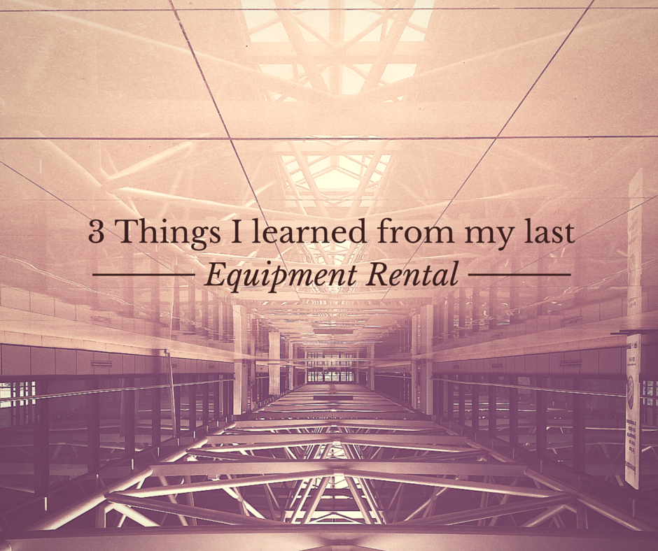 3 Things I Learned From My Last Equipment Rental 99 Hills