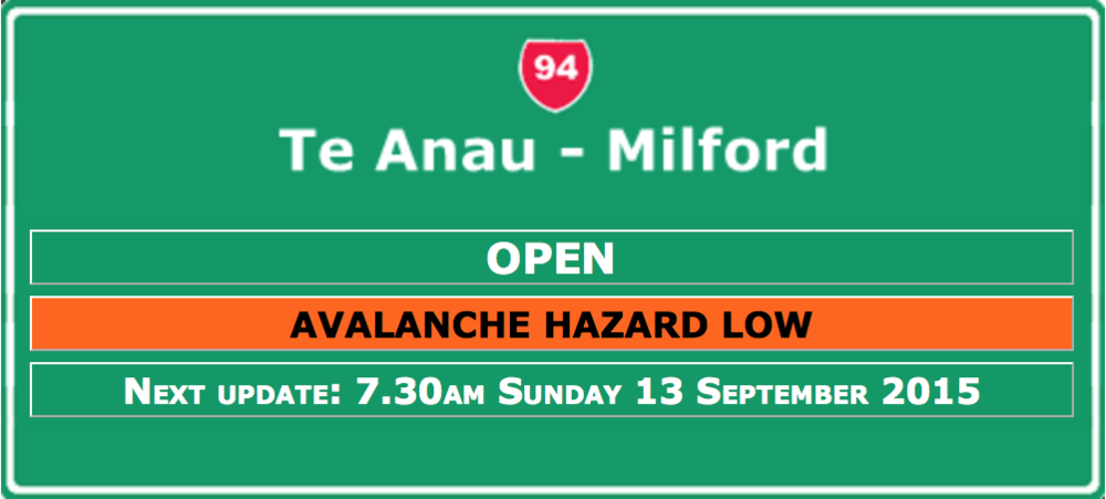 Click here for latest road conditions for Milford road from NZTA
