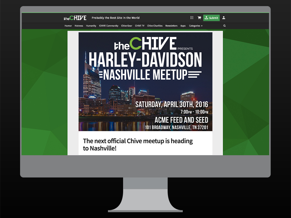 Event Asset on Desktop