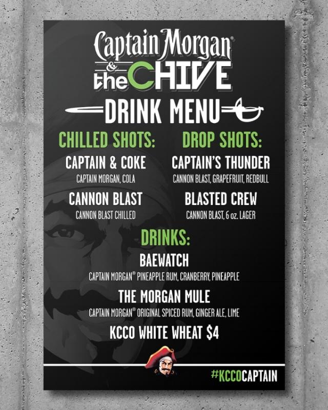 Custom branded drink menu