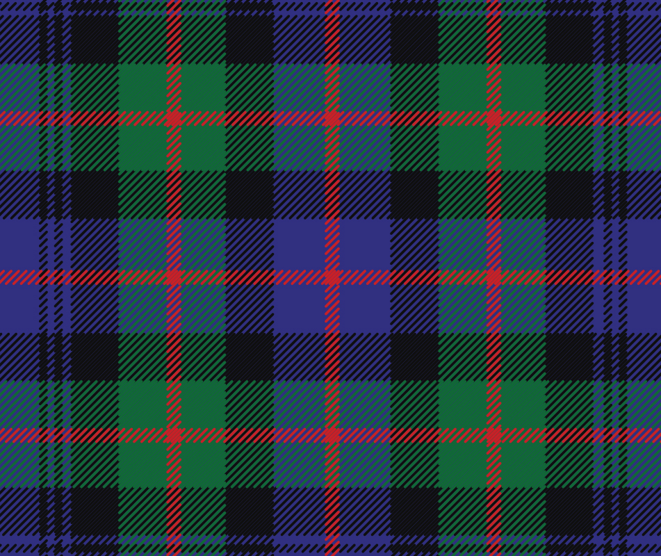 Recreating the Murray family tartan for brand identity and use as a pattern for apparel.
