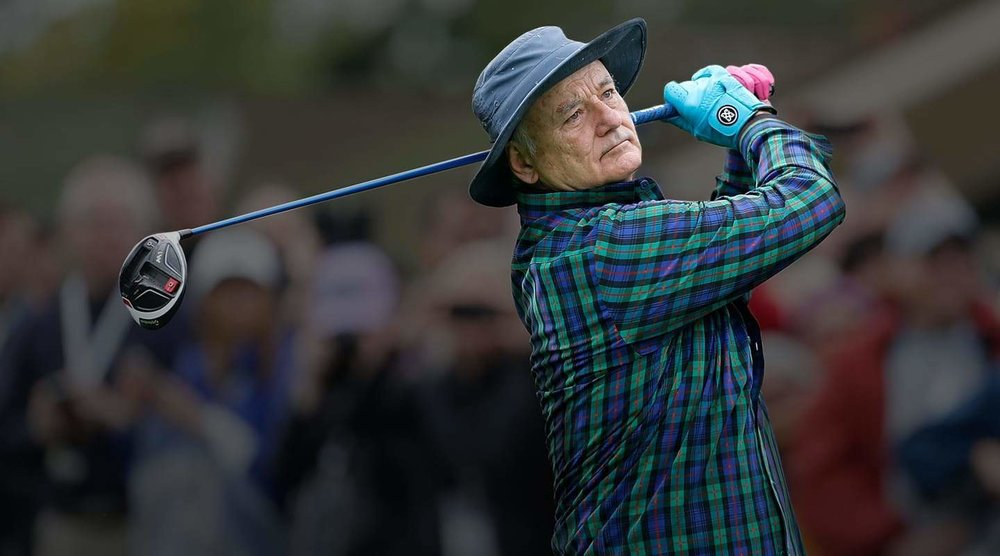 Bill Murray wearing Murray Tartan shirt I designed for the flagship launch