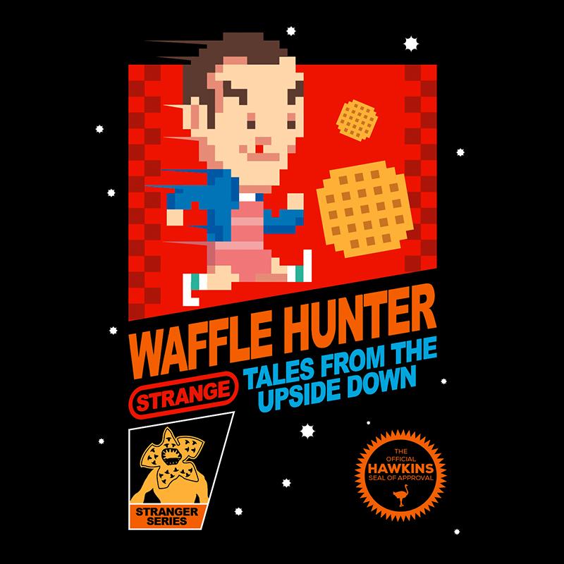 Stranger Things inspired design in 8-bit emulating the Nintendo Classic cover art