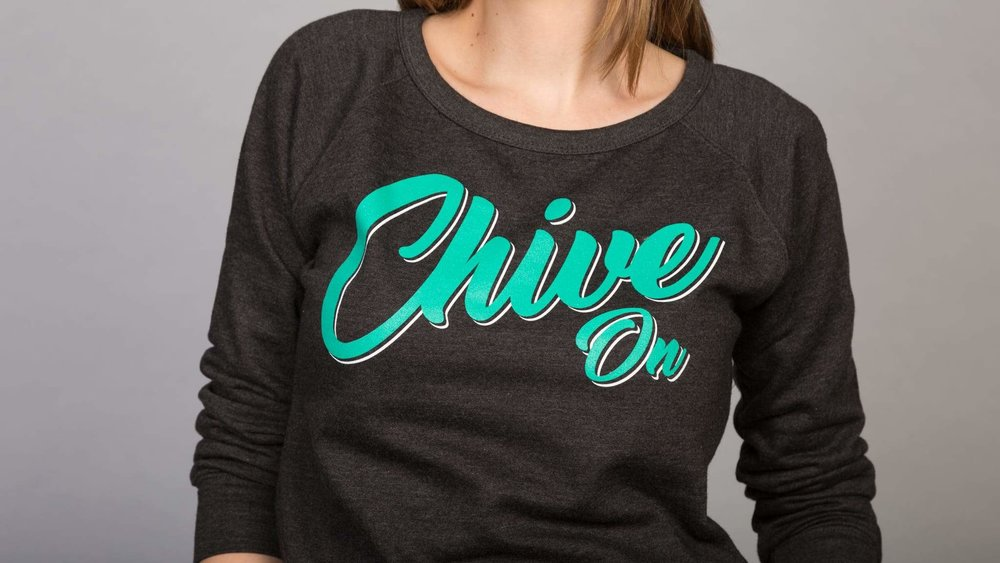 Women's branded pullover sweater design