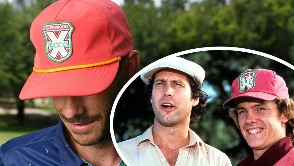 Caddyshack inspire branded rope hat