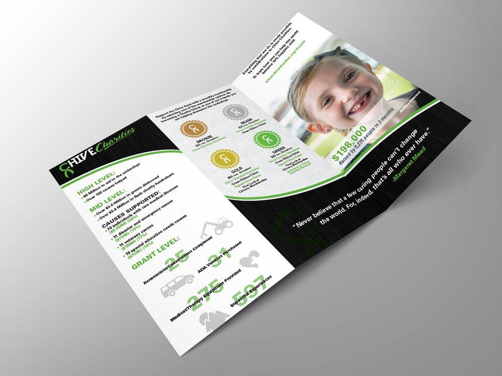 Informational tri-fold pamphlet