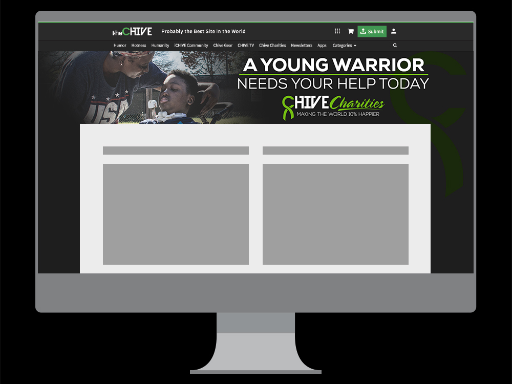 Homepage takeover mockup