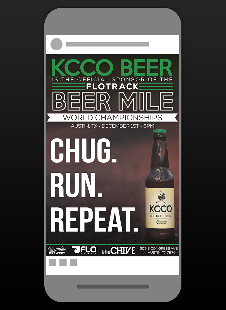 Beer Mile event social post