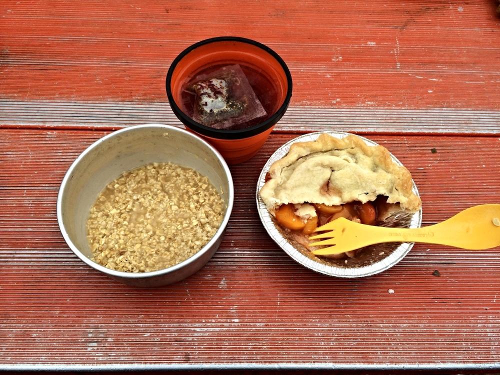 Peach pie for breakfast!