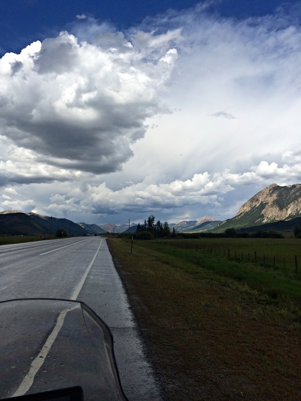 Storms on the way to Crested butte