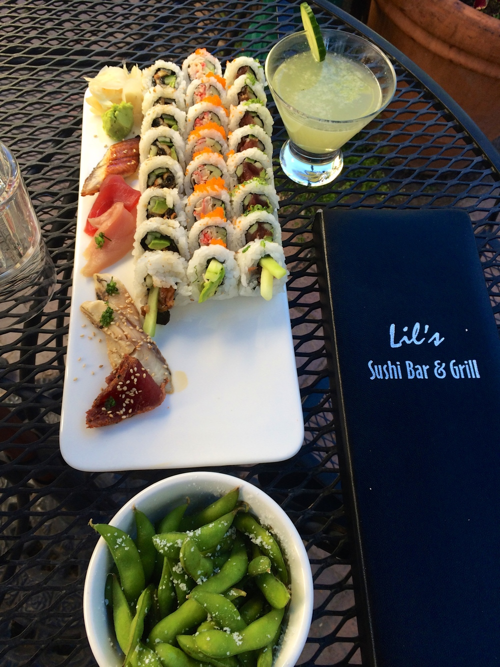 Sushi!! -Happy Hour at Lilly's Sushi Bar and Grill on Elk Ave.  After Nights of Noodles, Cravin' Sushi