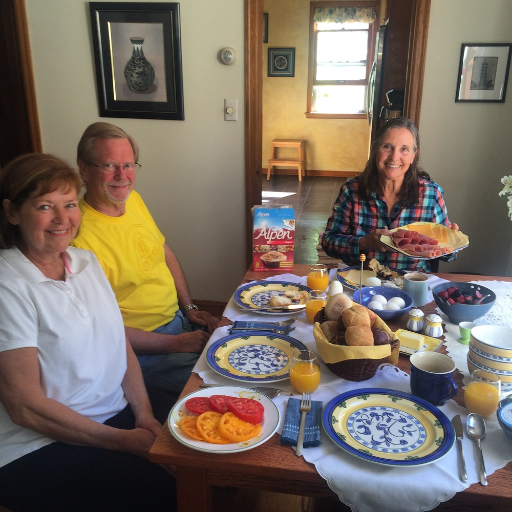 Lovely German breakfast with Louise and John Hertsgaard.