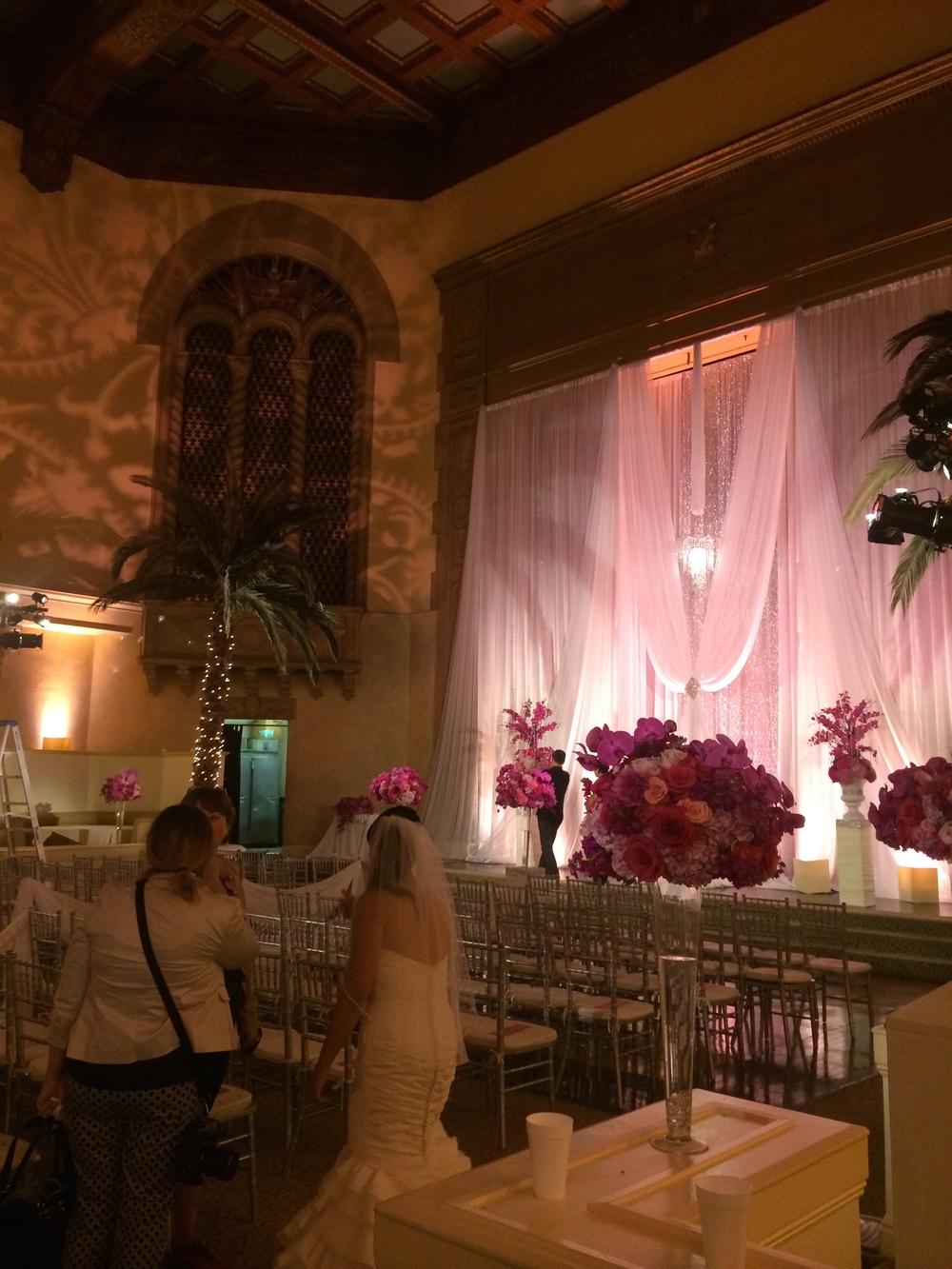 Main auditorium, wedding reception