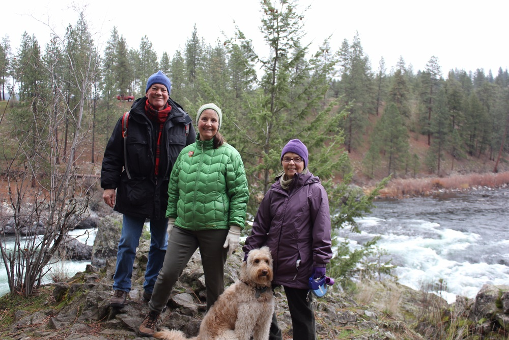 Hiking buddies: David, Sally, Rennie and Dusty