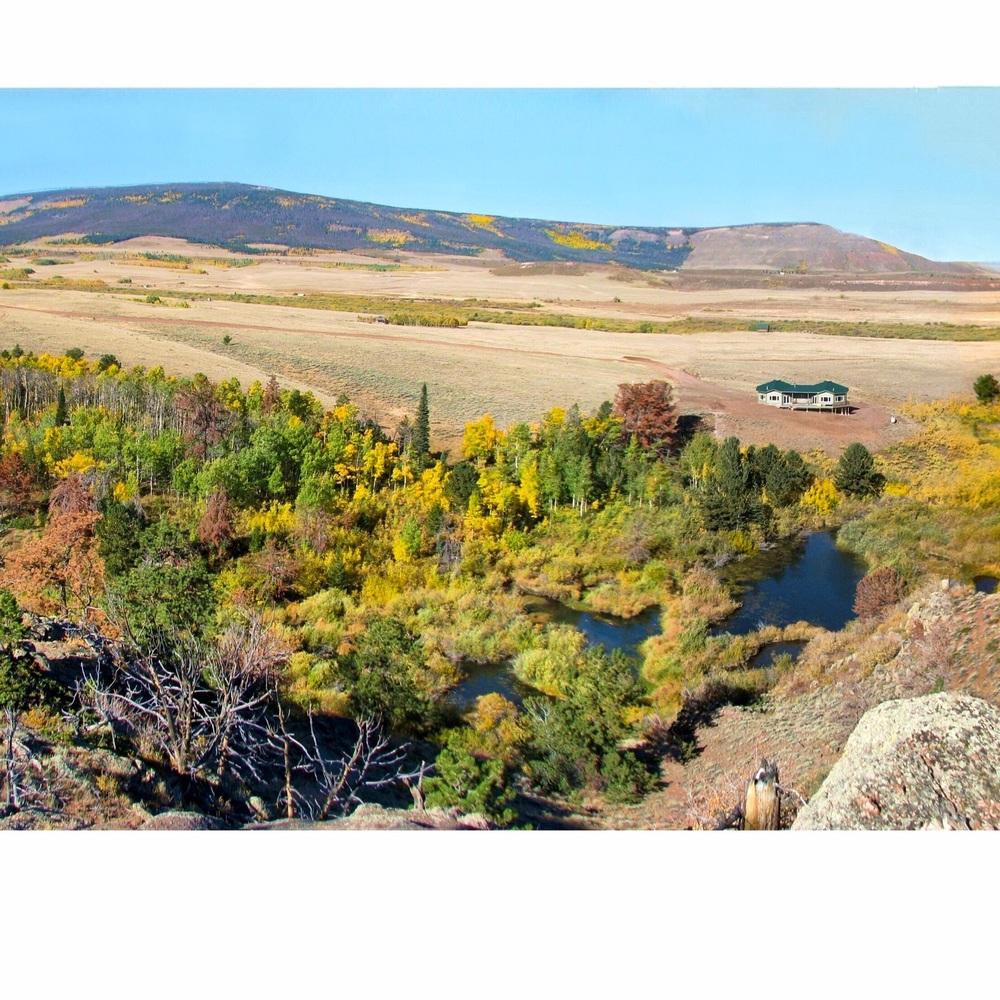 Willett's Kopje Creek Cabin - taken from the ridge to the East....