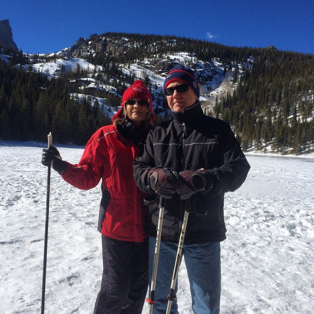 Tom and Barbara at Bear Lake, Rocky Mountain National Park