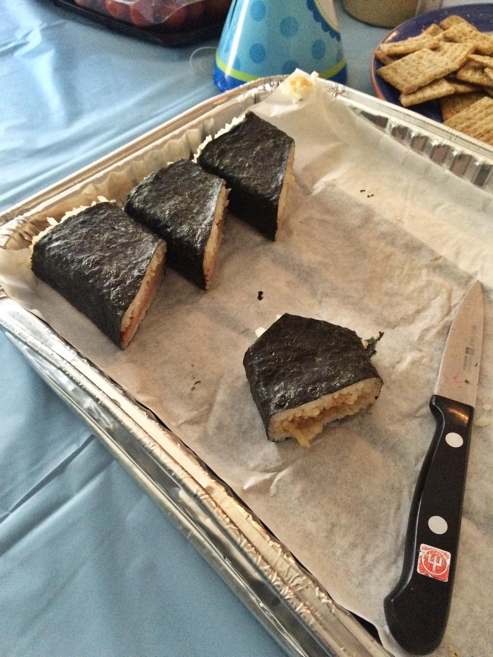 Spam Musubi from Hukilau Hawaiin Restaurant, San Jose Japantown.