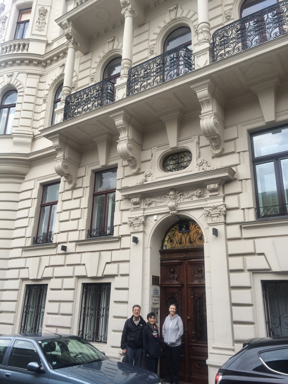 Our lodging in Vienna- clean simple and located next to a subway stop