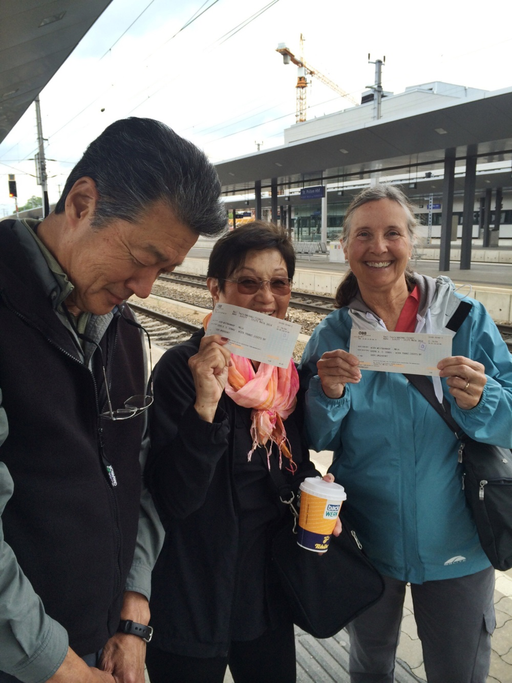 Ray and I forget to buythe girl's train tickets