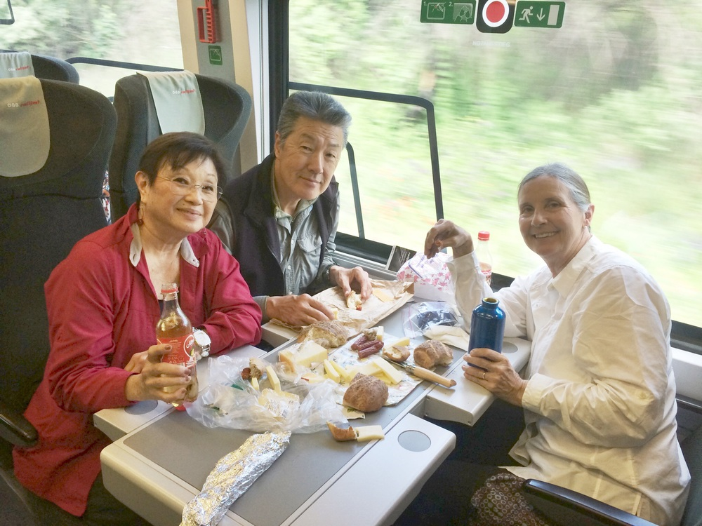 Picnic lunch on the train