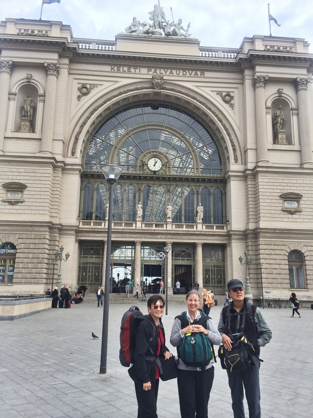 Arrival in 19th century Keleti Station, Budapest