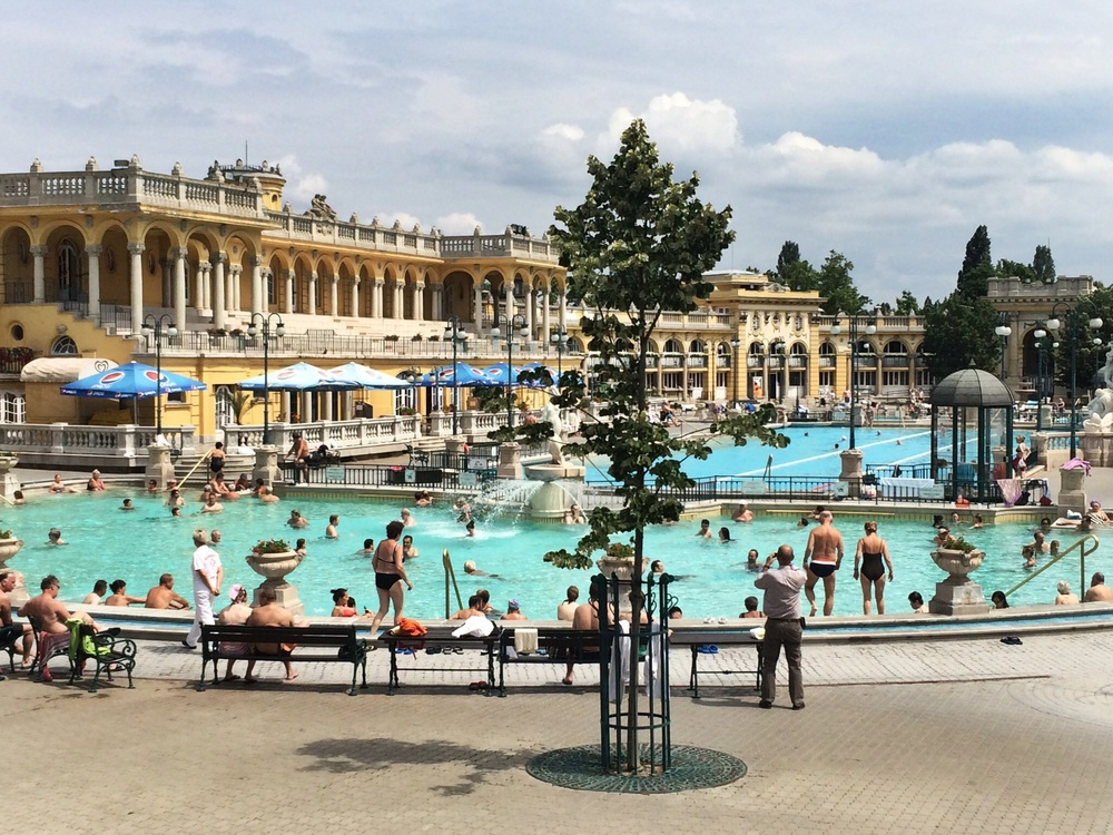 Szechenyi Baths - Budapest has 123 natural hot springs