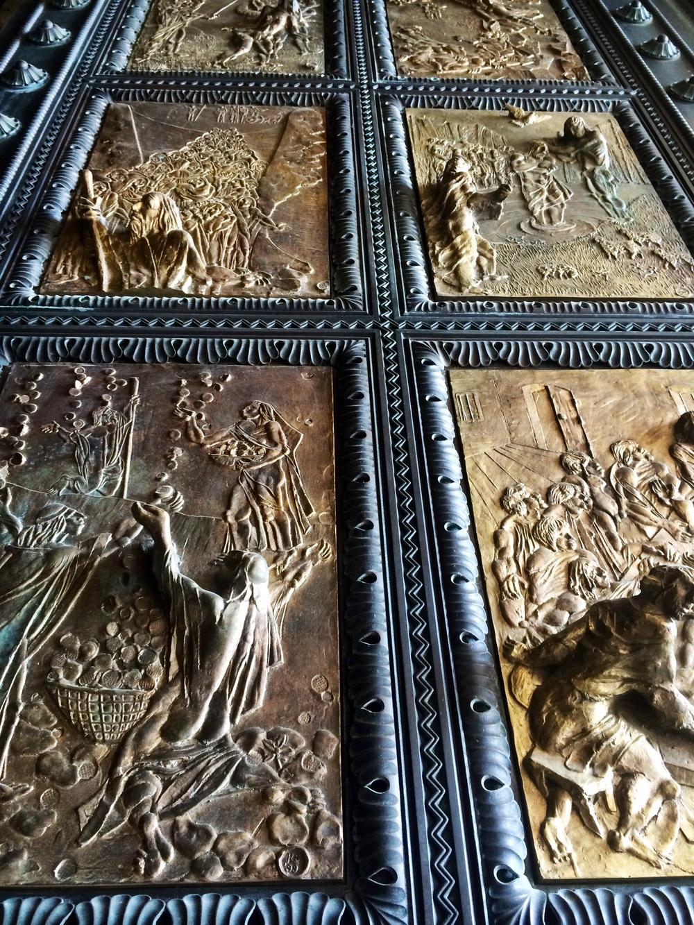 Bronze cathedral doors