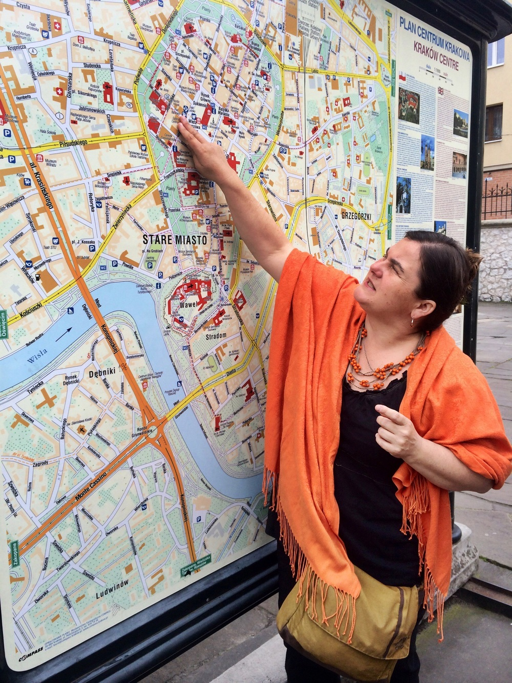 Marta, our guide, provides an overview of Krakow