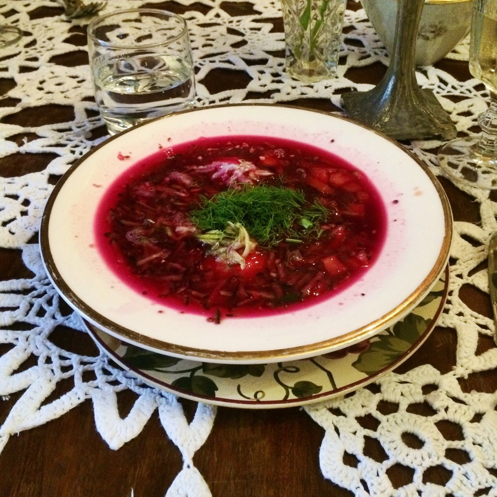Cold beetroot soup - Yum!