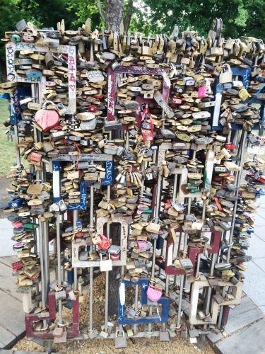 Love Locks - engrave your names and lock them here for eternity.